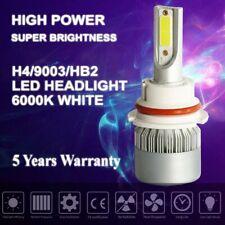 9007 COB LED headlights bulbs conversion kit high low beam HID 6000k super white
