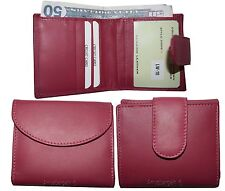 Woman's Pink leather wallet Billfold wallet, Ladies wallet, card case/Coin purse