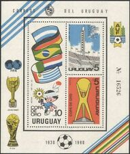 Uruguay 1980 Football/Soccer/Sports/Games/Gold Cup/Stadium/Flags 3v m/s (n44911)