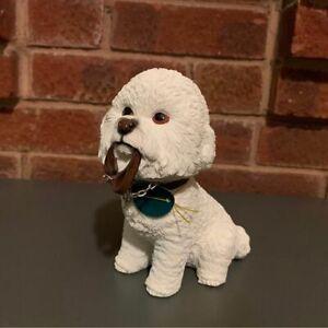 new Bichon Frise Leonardo Walkies ornament figurine, gift boxed