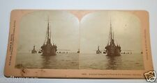 Antique 1898 Admiral Sampson's Fleet Of US Navy Ships In Havana Stereoview Photo