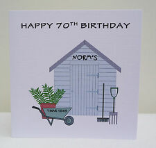 Personalised Birthday Card Shed - Mens Dad Grandad - Any Age 50th 60th 70th 80th
