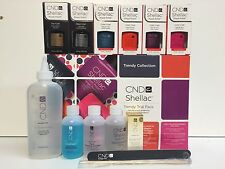 CND Shellac Soak off Nail TRENDY Trial Pack Kit Collection