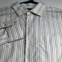 Banana Republic Mens Long Sleeve Button Up Shirt Large L Multicolor Stripes Work
