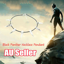 Black Panther Necklace Pendant Metal Movie Cosplay Silver Shiny Costume BK