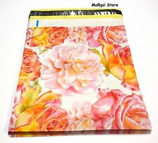25 FLOWER DESIGNER 10 x 13 MAILER POLY  MAILING SHIPPING PLASTIC BAGS Des: #18