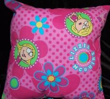 NEW HANDMADE LIZZY MCGUIRE   PILLOW SAME FABRIC FRONT AND BACK!