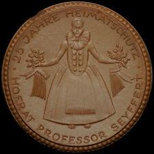 DRESDEN / SACHSEN: Porzellan-Medaille 1922. LANDESMUSEUM SÄCHSISCHE VOLKSKUNST.