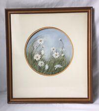 Vernon Martin Field of Daisies Framed Art Print Wood Frame Wildflowers