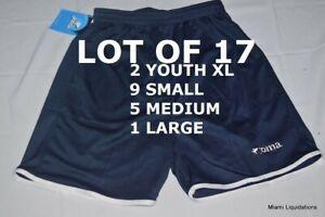 Lot of 17 Soccer Team Shorts. Varous sizes Joma Blue Polyester New