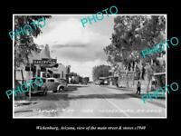 OLD 8x6 HISTORIC PHOTO OF WICKENBURG ARIZONA THE MAIN STREET & STORES c1940