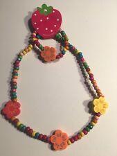 Wooden Beads (FLOWERS) Children's Necklace & Bracelet Sets-K1