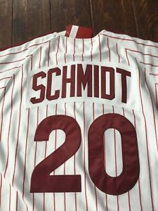 Mitchell & Ness Philadelphia Phillies Mike Schmidt 20 Throwback Jersey 48 XL new