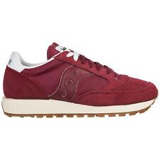 SAUCONY Para hombres Zapatos Gamuza Zapatillas Sneakers New JAZZ o Burdeos 74C