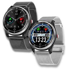 PPG + ECG Smart Watch Men Full Round Touch IP68 Waterproof Bluetooth Heart Rate
