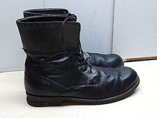 Guess GMDiffer 13 M 47 Black Leather Ankle Boot Plain Toe Casual Dress Shoes Men