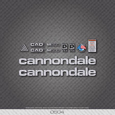 0504 Silver Cannondale M500 Bicycle Stickers - Decals - Transfers