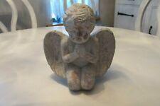 New listing Vintage Mini Cement Guardian Angel Cherub Statue Garden 7� Tall X 6� Wide