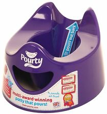 Pourty EASY-TO-POUR POTTY - PURPLE Baby Child Toilet Training BNIB
