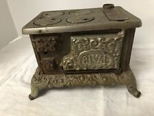 Antique Cast Iron Rival Salesman Sample Stove - Doll Stove