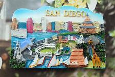 San Diego, California, USA Reiseandenken 3D Polyresin Kühlschrankmagnet Magnet