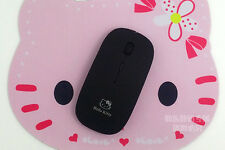 Hello Kitty USB Wireless Mouse Laptop Portable Computer Free Mouse Pad Black