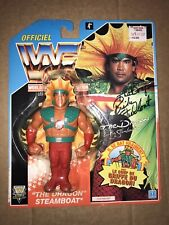 WWF HASBRO RICKY THE DRAGON STEAMBOAT MOC AUTOGRAPHED WWE WCW RETRO wrestling