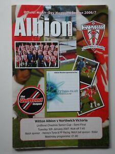 WITTON ALBION v NORTHWICH VICTORIA 2006-2007 Cheshire Senior Cup S/F