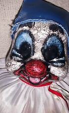 Scary Creepy Clown horror painted ooak China porcelian dead doll