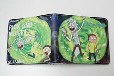 Rick and Morty Wallet Men Cartoon Bifold Coins Cards Notes Photo Holder Black