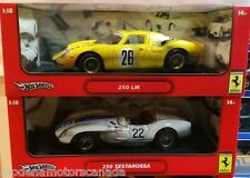 LOT OF 2 FERRARI DIRTY RACE CARS 250 LeMANS & TESTAROSSA by HOT WHEELS 1:18
