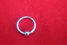 14K White Gold Nipple Ring Gauge 14 / 16 Mm