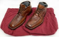 Sketchers Collection Men's Brown Leather Ankle Boots Sz 11 Italy