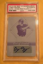 2013 Corey Seager LEAF BEST of BASEBALL PSA 1/1 PRINT PLATE CYAN AUTO ROOKIE ROY