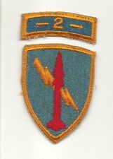 U.S. Army 2nd Missile Command Cut Edge Patch 2 piece