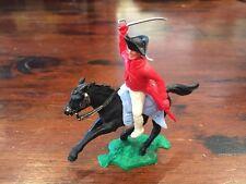 "Timpo AWI British Redcoat Officer - Light Blue "" Sabre Crossed"" Saddle - 1960's"