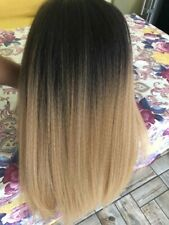 YAKI SYNTHETIC LACE FRONT WIG OMBRE/BLONDE