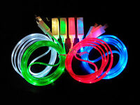 USB LED Micro Light Charge Data Sync Cable For Samsung Galaxy S4 S3 S2 HTC LG W