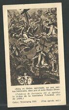 Estampa antigua Congracion Santissima trinidad andachtsbild santino holy card