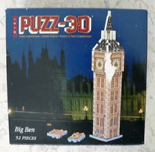 PUZZ 3D MINI WREBBIT LONDON BIG BEN CLOCK TOWER PUZZLE COMPLETE RARE HTF 52 PCS