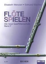 Querflöte Noten Schule : Flöte Spielen F m CD WEINZIERL WÄCHTER Querflötenschule