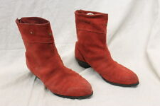 Henri Pierre Red Suede Boots Women's Size 7D GREAT Used Condition