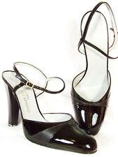 NIB! CHARLES JOURDAN 'SOLENE' Black Patent Leather Heels 9.5 B 40