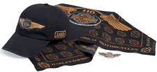 Harley-Davidson Mens 110th Anniversary Cap, Bandana, Pin Ride Pack
