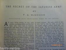 Old Antique Edwardian Photo Illustrated Article 1905 Secret Japanese Army Judo