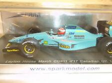 BRAND NEW SPARK 1:43 Paul Belmondo ~ Leyton House March CG911 ~ Canadian GP 1992