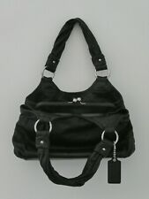 Lovely COACH  Handbag - Large Soft Black Leather  Kisslock and Very Spacious