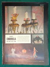 1950 Life Magazine Page ~ Walt Disney Film ~ Cinderella ~ Lucifer the Cat & Mice