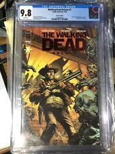 The Walking Dead Deluxe 1 Red Foil Variant 9.8 CGC Finch, Kirkman, Moore