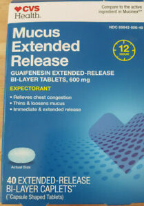 CVS Health Maximum Strength Mucus Extended Release Tablets 42ct EXP 5/22 FREE SH